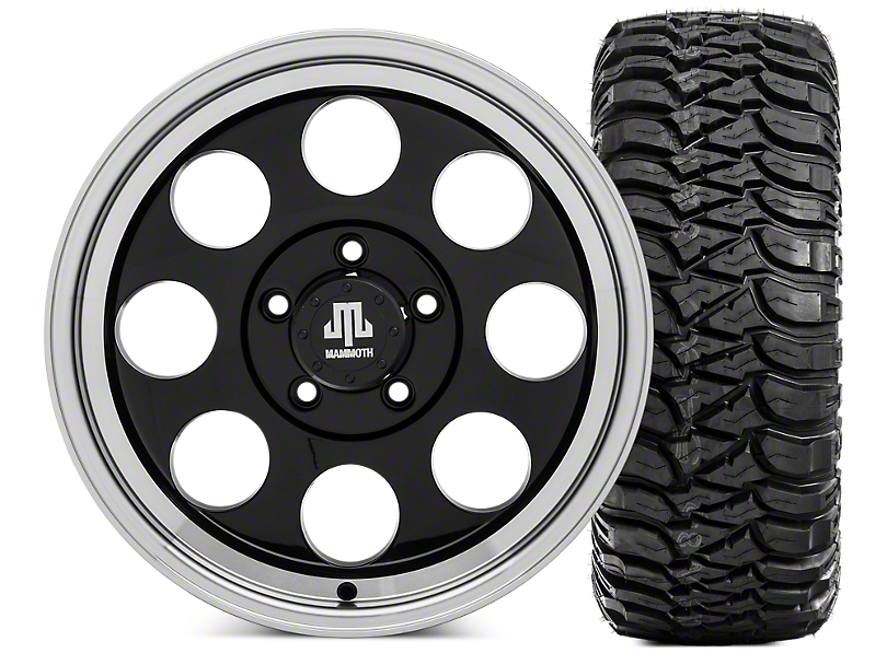 Mammoth 8 17x9 Wheel and Mickey Thompson Baja MTZ 305/70R17 Tire Kit (07-18 Jeep Wrangler JK)