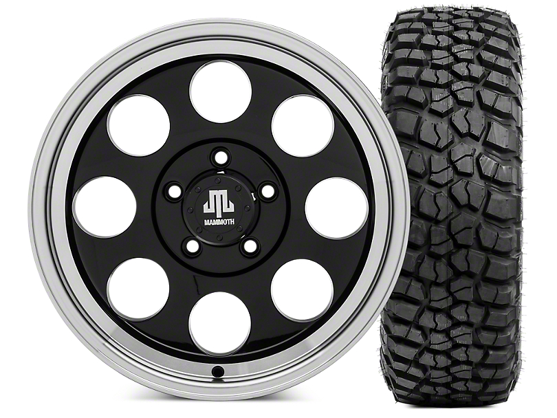Mammoth 8 Wheel - 17x9 Wheel and BFG KM2 Tire 305/70- 17 Tire Kit (07-18 Jeep Wrangler JK)