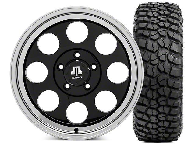 Mammoth 8 17x9 Wheel and BF Goodrich KM2 Tire Kit 305/70R17 Tire Kit (07-18 Jeep Wrangler JK)