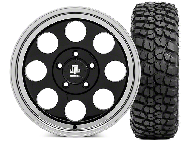 Mammoth 8 Wheel - 17x9 Wheel and BFG KM2 Tire 35x12.5x17 Tire Kit (07-18 Jeep Wrangler JK)