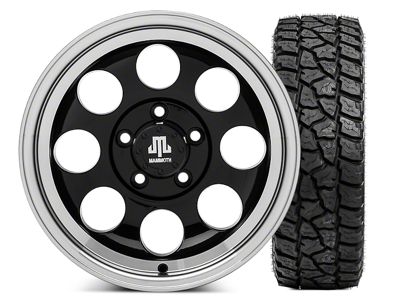 Mammoth 8 15x8 Wheel & Mickey Thompson Baja ATZP3 33X12.50R15LT Tire Kit (87-06 Jeep Wrangler YJ & TJ)