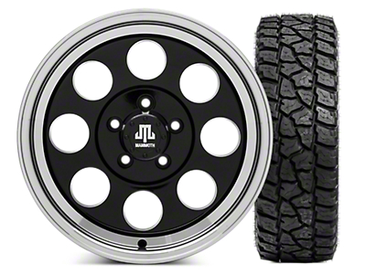 Mammoth 8 16x8 Wheel & Mickey Thompson Baja ATZP3 LT265/75R16 Tire Kit (87-06 Jeep Wrangler YJ & TJ)
