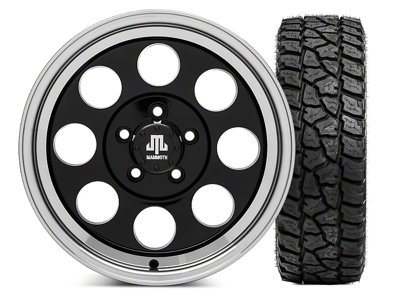 Mammoth 8 16x8 Wheel & Mickey Thompson Baja ATZP3 LT285/75R16 Tire Kit (87-06 Jeep Wrangler YJ & TJ)