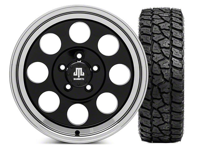 Mammoth 8 16x8 Wheel and Mickey Thompson Baja ATZP3 LT285/75R16 Tire Kit (87-06 Jeep Wrangler YJ & TJ)
