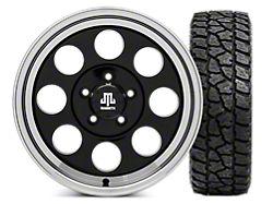 Mammoth 8 16x8 Wheel and Mickey Thompson Baja ATZP3 LT285/75R16; Set of Five (87-06 Jeep Wrangler YJ & TJ)