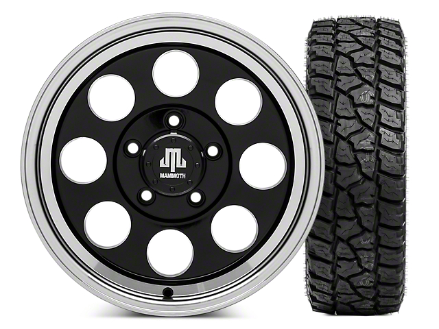 Mammoth 8 16x8 Wheel and Mickey Thompson Baja ATZP3 LT265/75R16 Tire Kit (07-18 Jeep Wrangler JK)