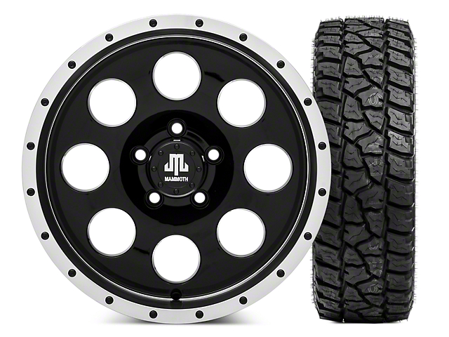 Mammoth 8 Beadlock 16x8 Wheel and Mickey Thompson Baja ATZP3 LT265/75R16 Tire Kit (87-06 Jeep Wrangler YJ & TJ)