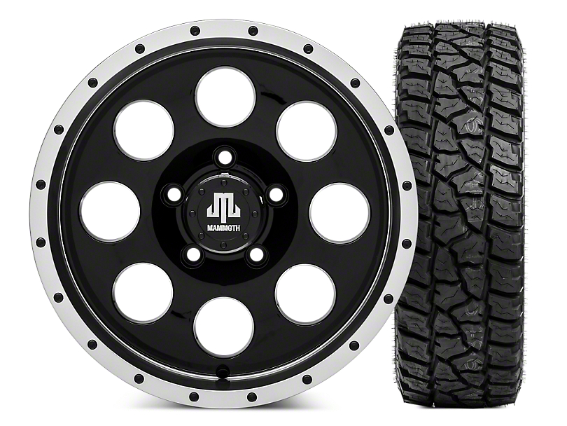 Mammoth 8 Beadlock 16x8 Wheel & Mickey Thompson Baja ATZP3 LT265/75R16 Tire Kit (07-18 Jeep Wrangler JK)