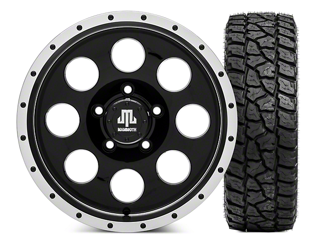 Mammoth 8 Beadlock Wheel - 16x8 Wheel - and Mickey Thompson Baja ATZP3 LT265/75R16 (07-18 Jeep Wrangler JK)