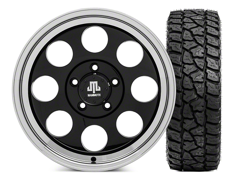 Mammoth 8 17x9 Wheel & Mickey Thompson Baja ATZP3 LT265/70R17 Tire Kit (07-18 Jeep Wrangler JK)