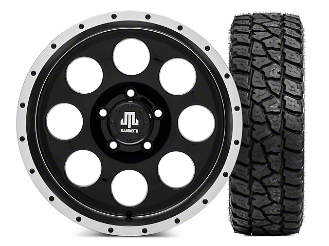 Mammoth 8 Beadlock 17x9 Wheel and Mickey Thompson Baja ATZP3 LT285/70R17 Tire Kit (07-18 Jeep Wrangler JK)