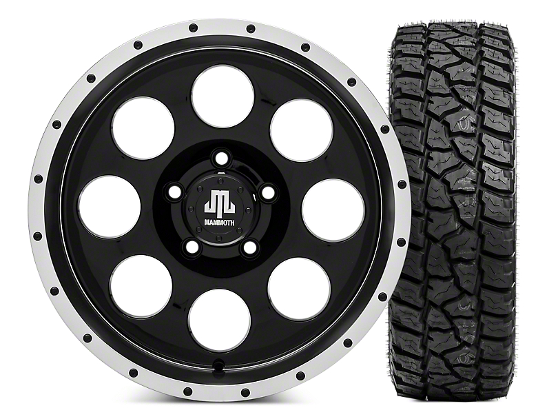 Mammoth 8 Beadlock Wheel - 17x9 and Mickey Thompson Baja ATZP3 LT265/70R17 (07-18 Jeep Wrangler JK; 2018 Jeep Wrangler JL)