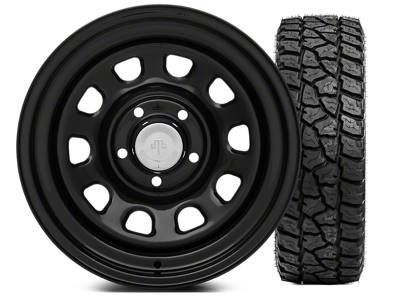 Mammoth D Window Steel 15x8 Wheel & Mickey Thompson Baja ATZP3 33X12.50R15LT Tire Kit (87-06 Jeep Wrangler YJ & TJ)
