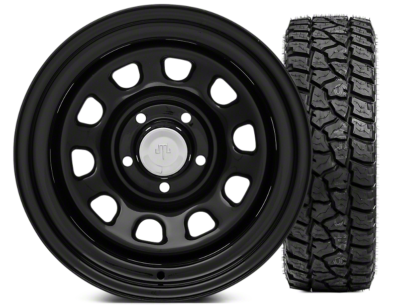 Mammoth D Window Steel 15x10 Wheel & Mickey Thompson Baja ATZP3 33X12.50R15LT Tire Kit (87-06 Jeep Wrangler YJ & TJ)