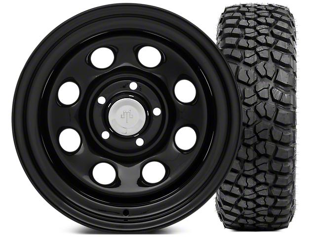 Mammoth 8 Steel 15x10 Wheel & BFG KM2 35x12.5- 15 Tire Kit (87-06 Jeep Wrangler YJ & TJ)