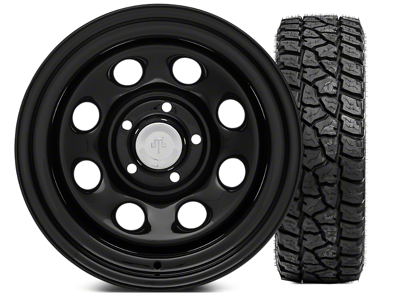 Mammoth 8 Steel 15x10 Wheel & Mickey Thompson Baja ATZP3 33X12.50R15LT Tire Kit (87-06 Jeep Wrangler YJ & TJ)