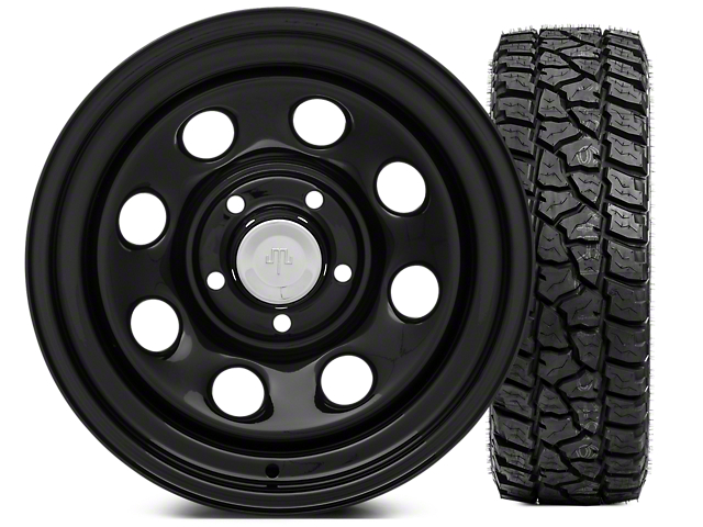 Mammoth 8 Steel 15x8 Wheel & Mickey Thompson Baja ATZP3 33X12.50R15LT Tire Kit (87-06 Jeep Wrangler YJ & TJ)