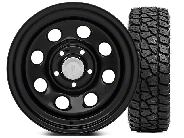 Mammoth 8 Steel 15x8 Wheel and Mickey Thompson Baja ATZP3 31X10.50R15LT Tire Kit (87-06 Jeep Wrangler YJ & TJ)