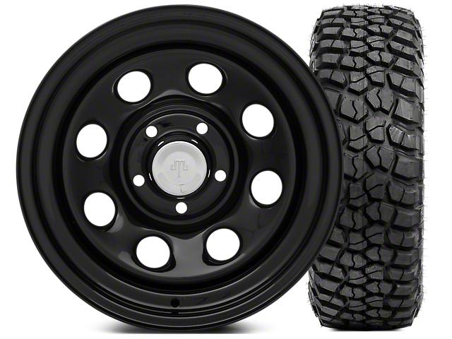 Mammoth 8 Steel 15x8 Wheel & BFG KM2 35x12.5- 15 Tire Kit (87-06 Jeep Wrangler YJ & TJ)