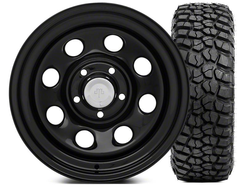 Mammoth 8 Steel 15x8 Wheel & BFG KM2 33x10.5- 15 Tire Kit (87-06 Jeep Wrangler YJ & TJ)