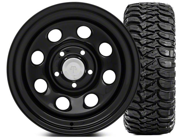 Mammoth 8 Steel 15x8 Wheel and Mickey Thompson Baja MTZP3 33X12.50R15 Tire Kit (87-06 Jeep Wrangler YJ & TJ)