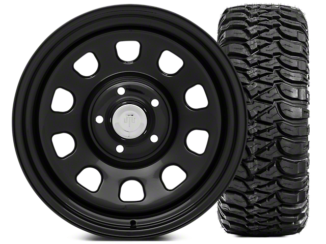 Mammoth D Window Steel 17x9 Wheel and Mickey Thompson Baja MTZ 305/65R17 Tire Kit (07-18 Jeep Wrangler JK)