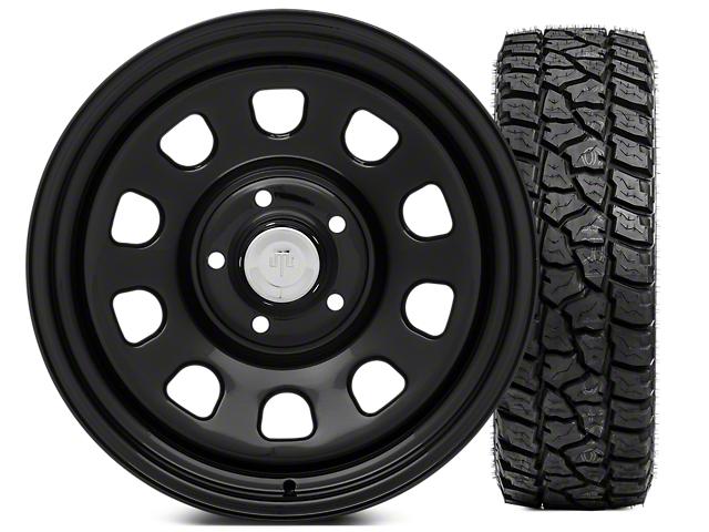 Mammoth D Window Steel 17x9 Wheel & Mickey Thompson Baja ATZP3 LT265/70R17 Tire Kit (07-18 Jeep Wrangler JK)