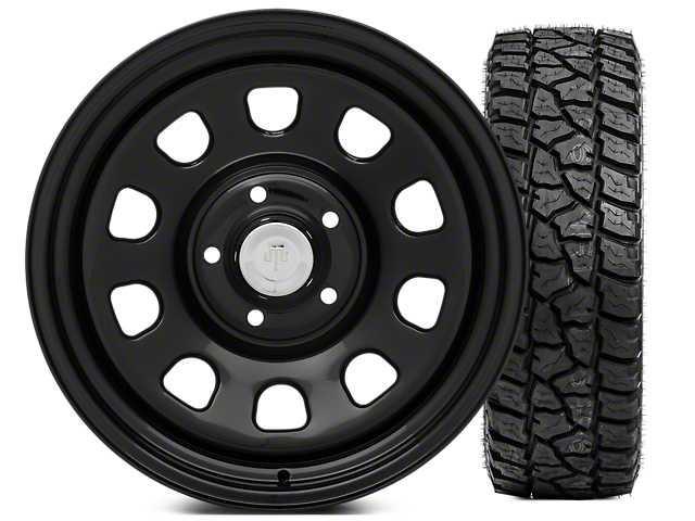 Mammoth D Window Steel 17x9 Wheel and Mickey Thompson Baja ATZP3 LT285/70R17 Tire Kit (07-18 Jeep Wrangler JK; 2018 Jeep Wrangler JL)