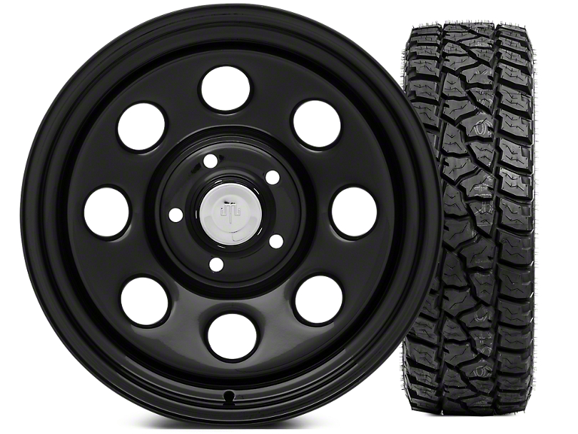 Mammoth 8 Wheel - Steel 17x9 Wheel and Mickey Thompson Baja ATZP3 LT285/70R17 Tire Kit (07-18 Jeep Wrangler JK)