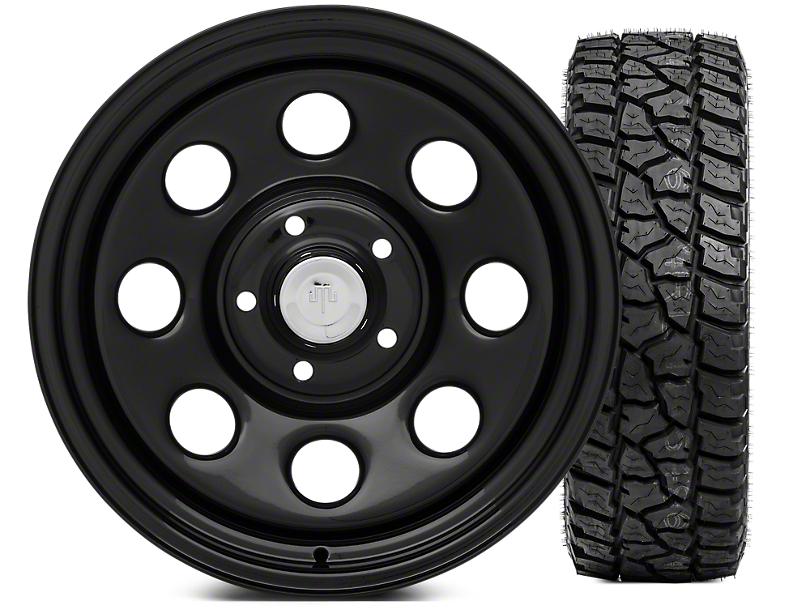 Mammoth 8 Wheel - Steel 17x9 Wheel and Mickey Thompson Baja ATZP3 LT265/70R17 Tire Kit (07-18 Jeep Wrangler JK)