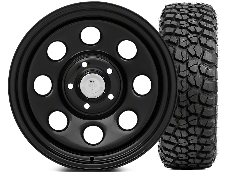 Mammoth 8 Wheel - Steel 17x9 Wheel and BFG KM2 Tire 305/70- 17 Tire Kit (07-18 Jeep Wrangler JK)