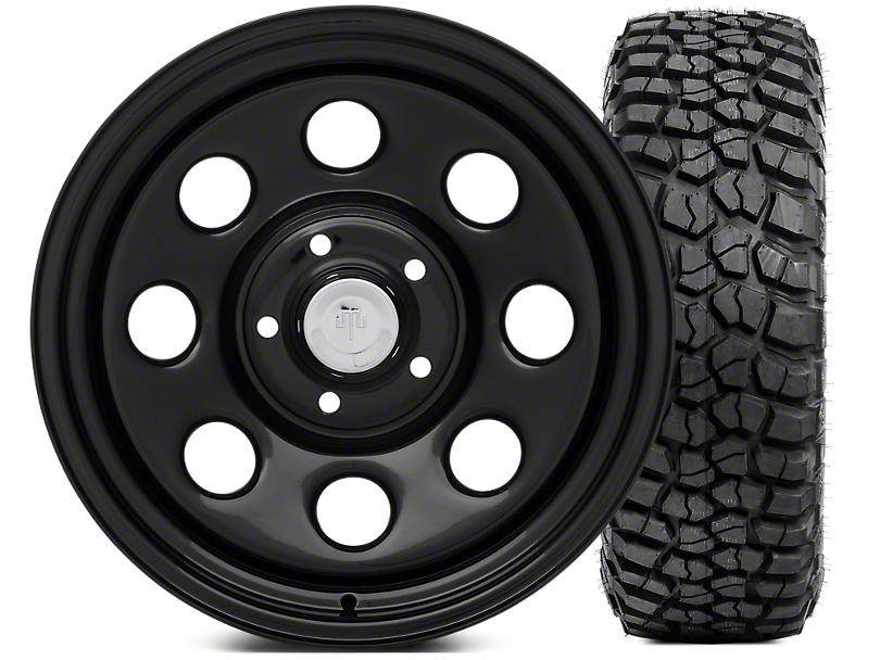Mammoth 8 Wheel - Steel 17x9 Wheel and BFG KM2 Tire 305/70- 17 Tire Kit (07-18 Jeep Wrangler JK; 2018 Jeep Wrangler JL)