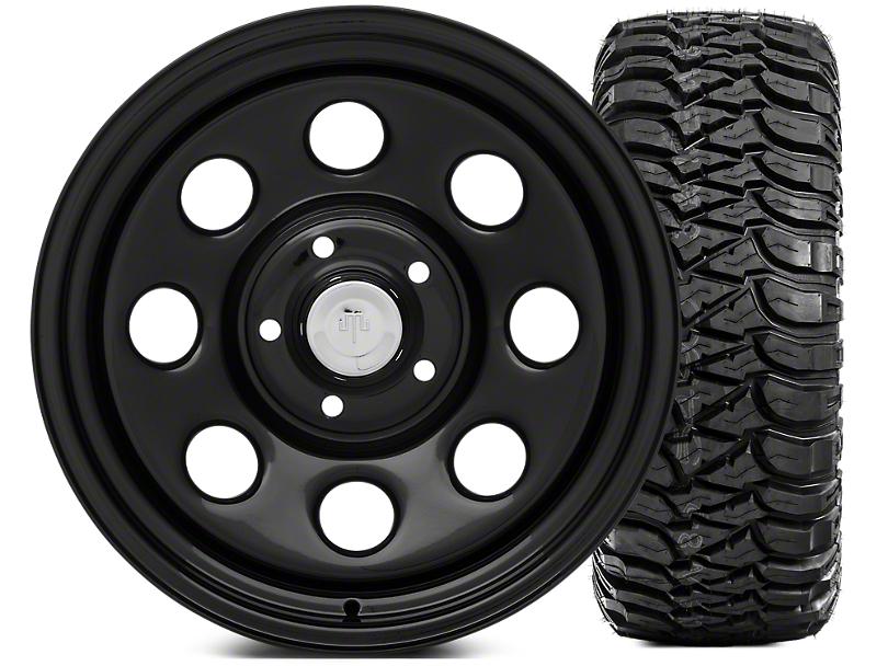 Mammoth 8 Wheel - Steel 17x9 Wheel and Mickey Thompson Baja MTZ 305/65-17 Tire Kit (07-18 Jeep Wrangler JK)