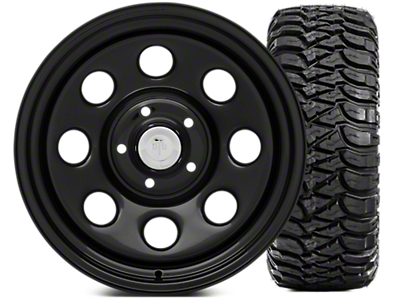 Mammoth 8 Wheel - Steel 17x9 Wheel and Mickey Thompson Baja MTZ 305/65-17 Tire Kit (07-18 Jeep Wrangler JK; 2018 Jeep Wrangler JL)