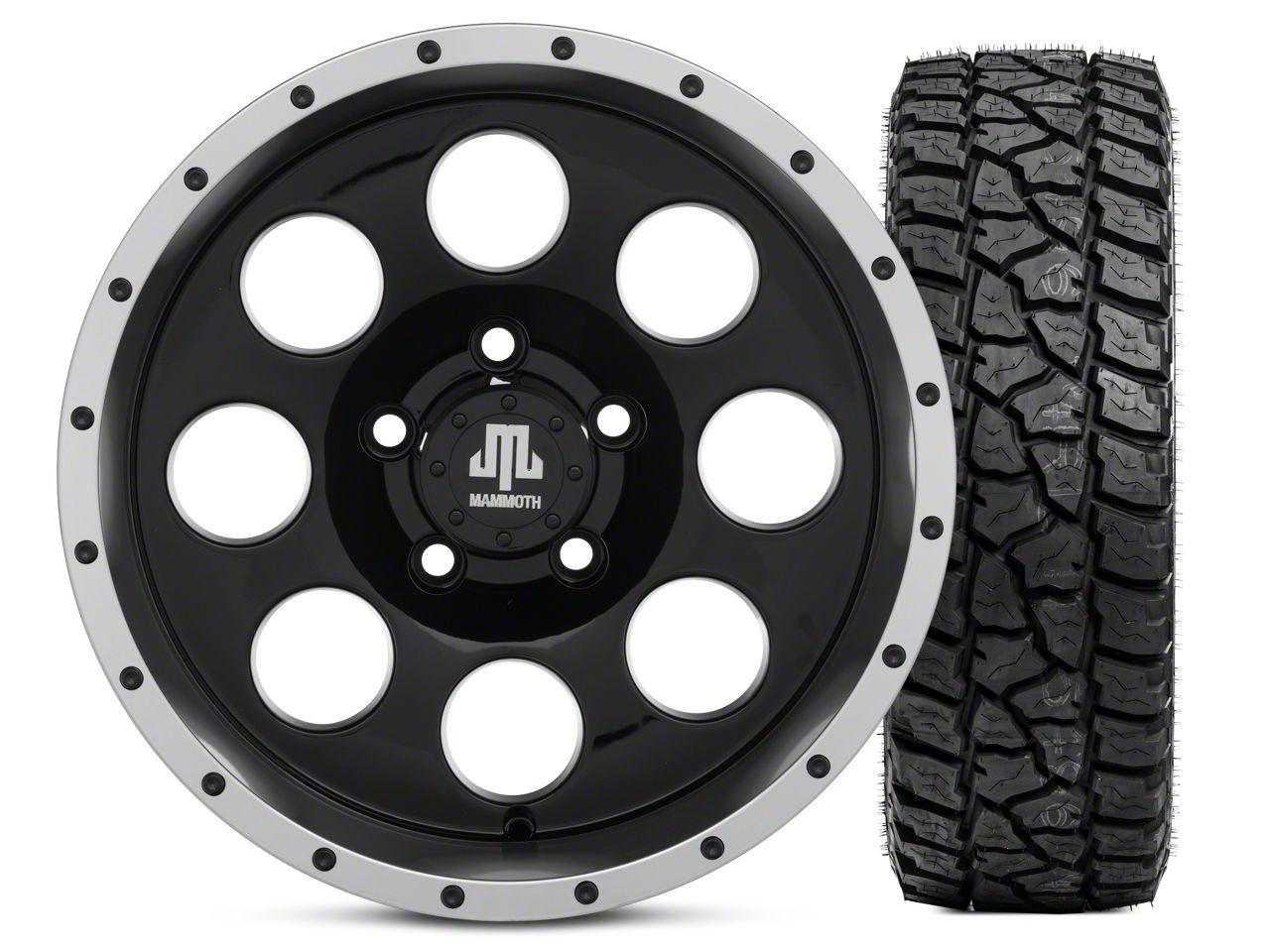 Mammoth 8 Beadlock 15x8 Wheel & Mickey Thompson Baja ATZP3 33X12.50R15LT Tire Kit (5) (87-06 Jeep Wrangler YJ & TJ)