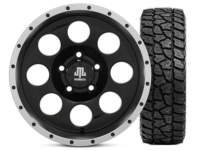 Mammoth 8 Beadlock 15x8 Wheel & Mickey Thompson Baja ATZP3 33X12.50R15LT Tire Kit (87-06 Jeep Wrangler YJ & TJ)