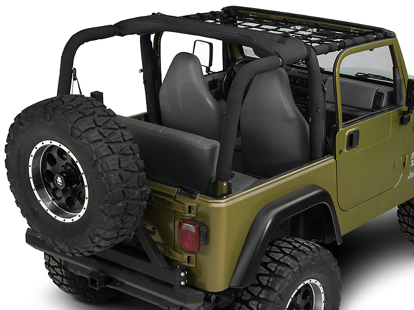 Dirty Dog 4x4 Front Netting - Black (97-06 Jeep Wrangler TJ)