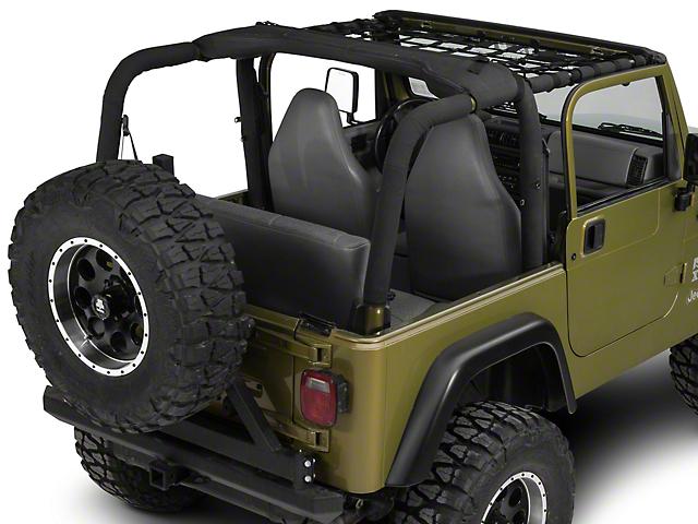 Dirty Dog 4x4 Front Netting; Black (97-06 Jeep Wrangler TJ)