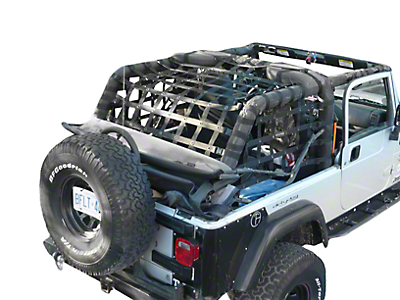 Dirty Dog 4x4 Rear Netting - Black (04-06 Wrangler TJ Unlimited)