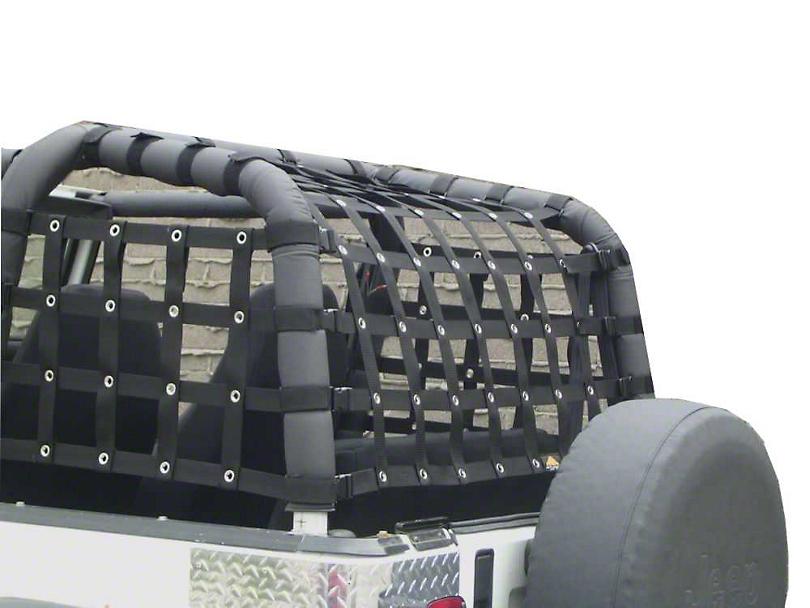 Dirty Dog 4x4 Rear Netting - Black (92-95 Jeep Wrangler YJ)