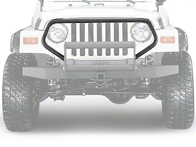 Olympic 4x4 Brush Guard - Textured Black (97-06 Wrangler TJ)