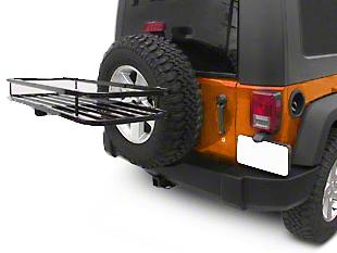 Olympic 4x4 Sierra Rack - Textured Black (87-18 Jeep Wrangler YJ, TJ, JK & JL)