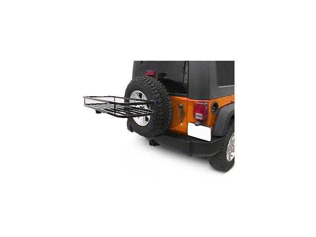 Olympic 4x4 Sierra Rack ll - Textured Black (87-18 Jeep Wrangler YJ, TJ & JK)