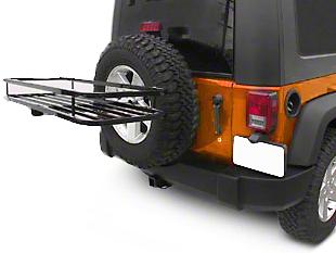 Olympic 4x4 Sierra Rack ll - Textured Black (87-18 Jeep Wrangler YJ, TJ, JK & JL)