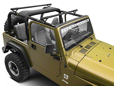 Olympic 4x4 Quick n Easy Rack - Textured Black (97-06 Wrangler TJ)
