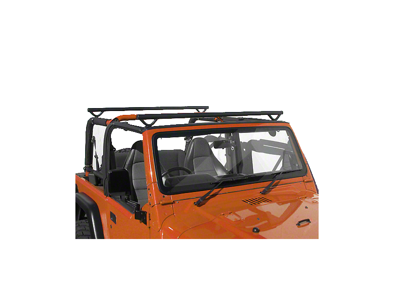 Olympic 4x4 Quick n Easy Rack - Textured Black (97-06 Jeep Wrangler TJ)