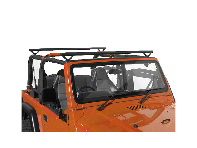 Olympic 4x4 Quick n Easy Rack; Textured Black (97-06 Jeep Wrangler TJ)