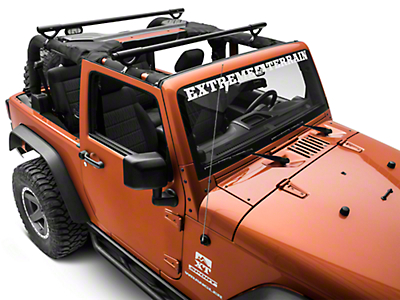 Olympic 4x4 Quick n Easy Rack - Textured Black (07-18 Wrangler JK 2 Door)