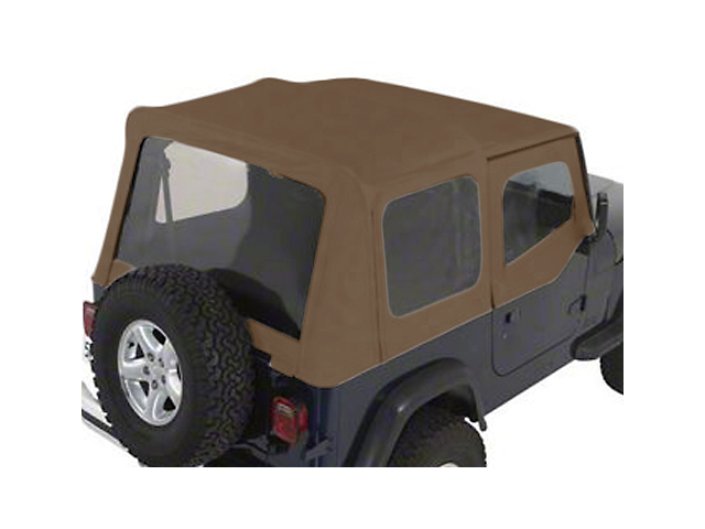 Rugged Ridge XHD Soft Top w/ Clear Windows & Door Skins - Spice Denim (88-95 Jeep Wrangler YJ w/ Factory Soft Top)