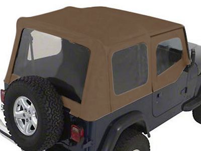 Rugged Ridge XHD Soft Top w/ Tinted Windows & Door Skins - Spice Denim (88-95 Jeep Wrangler YJ w/ Factory Soft Top)